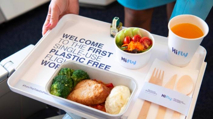 Hi Fly goes plastic-free on all flights