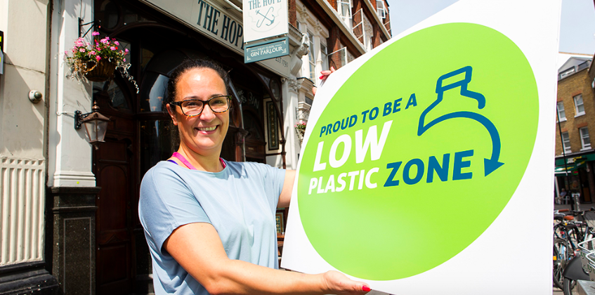 """First """"low plastic zone'"""" launches in London"""